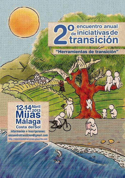 Post 2º encuentro de Iniciativas en Transición Cartel Encuentro Mijas-MAILING
