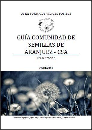 Post Guía de la Comunidad de Semillas de Aranjuez (CSA)
